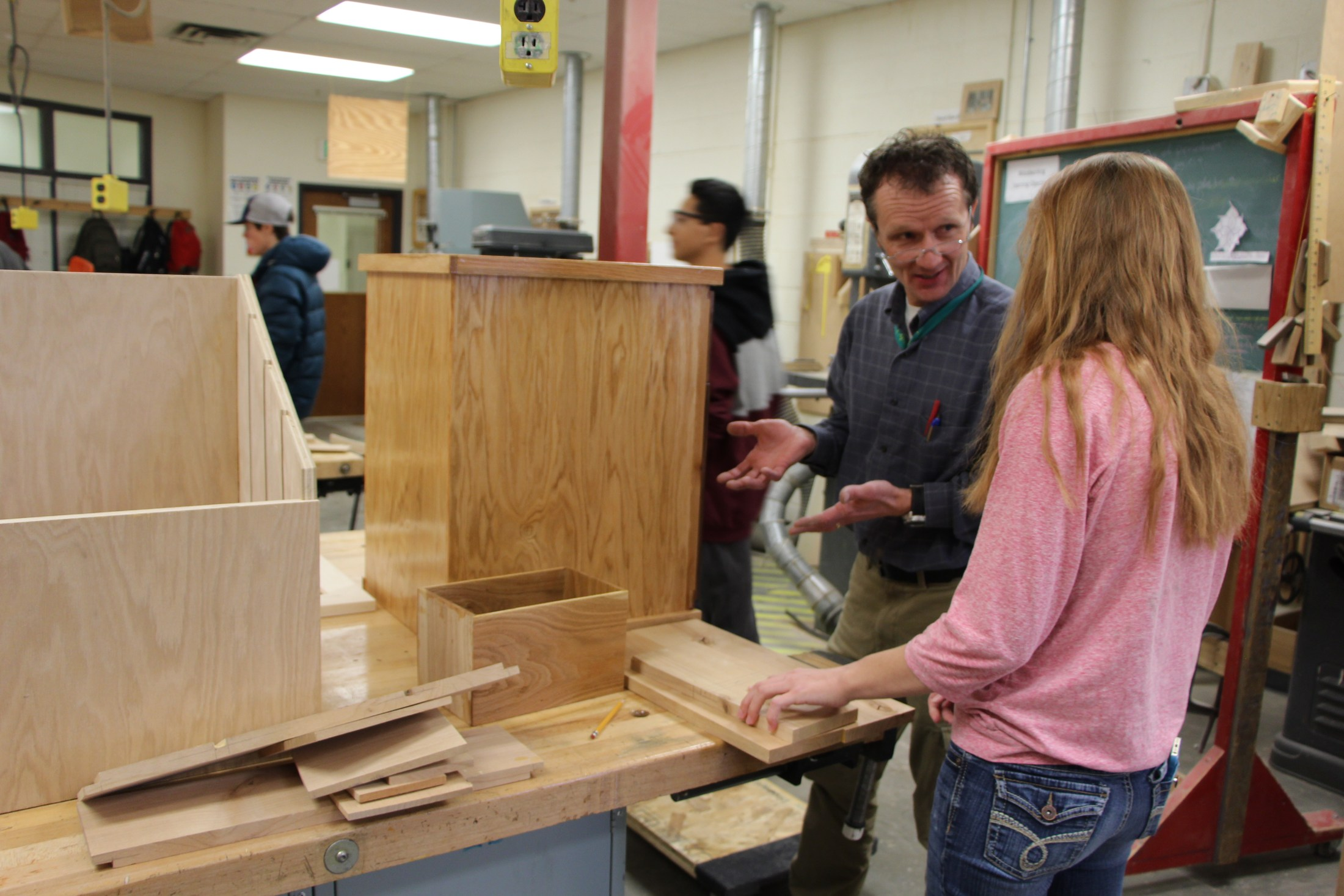 Woodworking class.