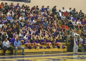 Fans at Varsity Basketball Game