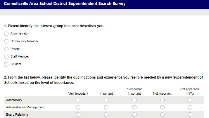 Superintendent Search Survey Featured Photo
