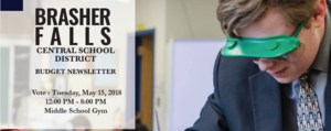 Brasher Falls Central School District Budget VOTE May 15, 2018