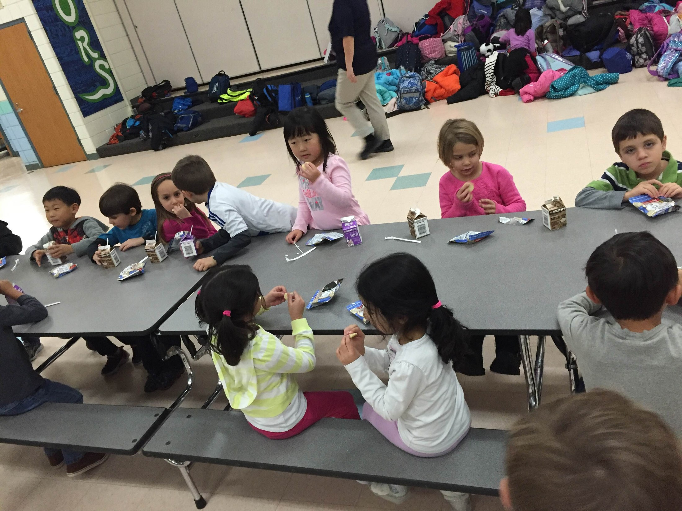 Kids' Club at snack time.