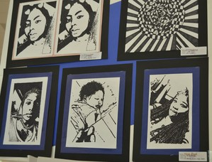 Student art from the Art Displays