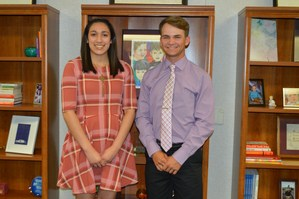 Yvette Machado and Callan Gawlik, April Students of the Month