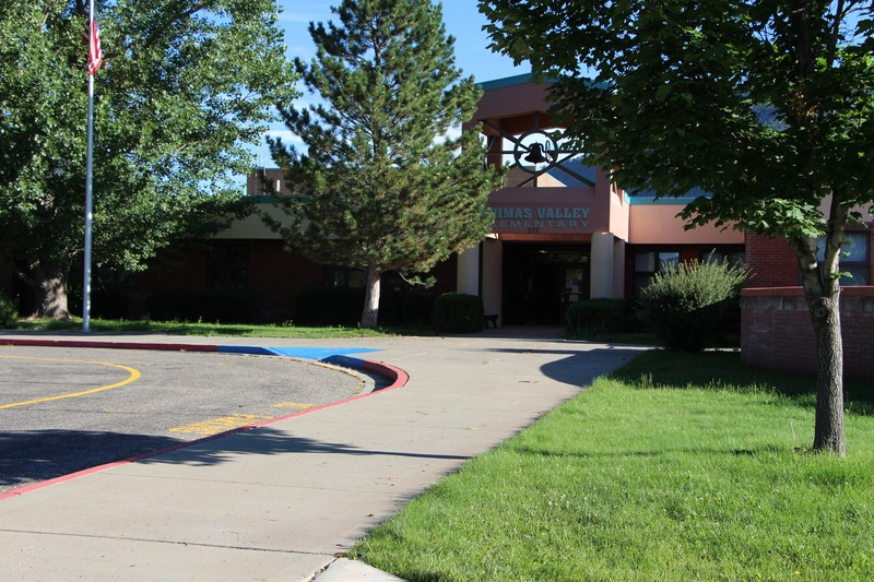 Exterior view of Animas Valley Elementary School.