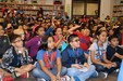 Pictured are Bryan Elementary students listening to Ed Masessa, author of the Wandmaker's Apprentice.