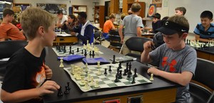 chess practice at Central Magnet