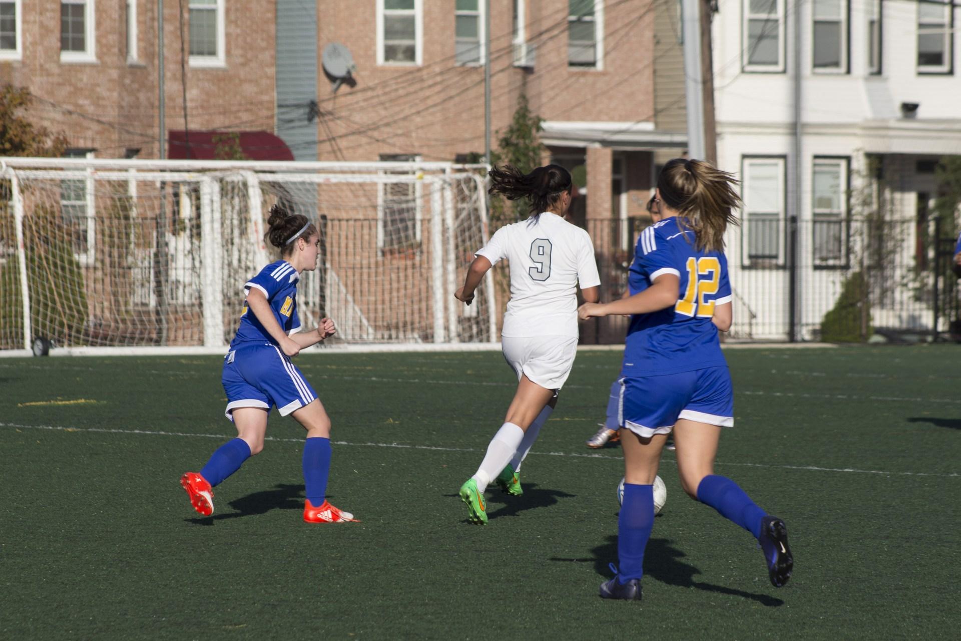 kicking to make a goal