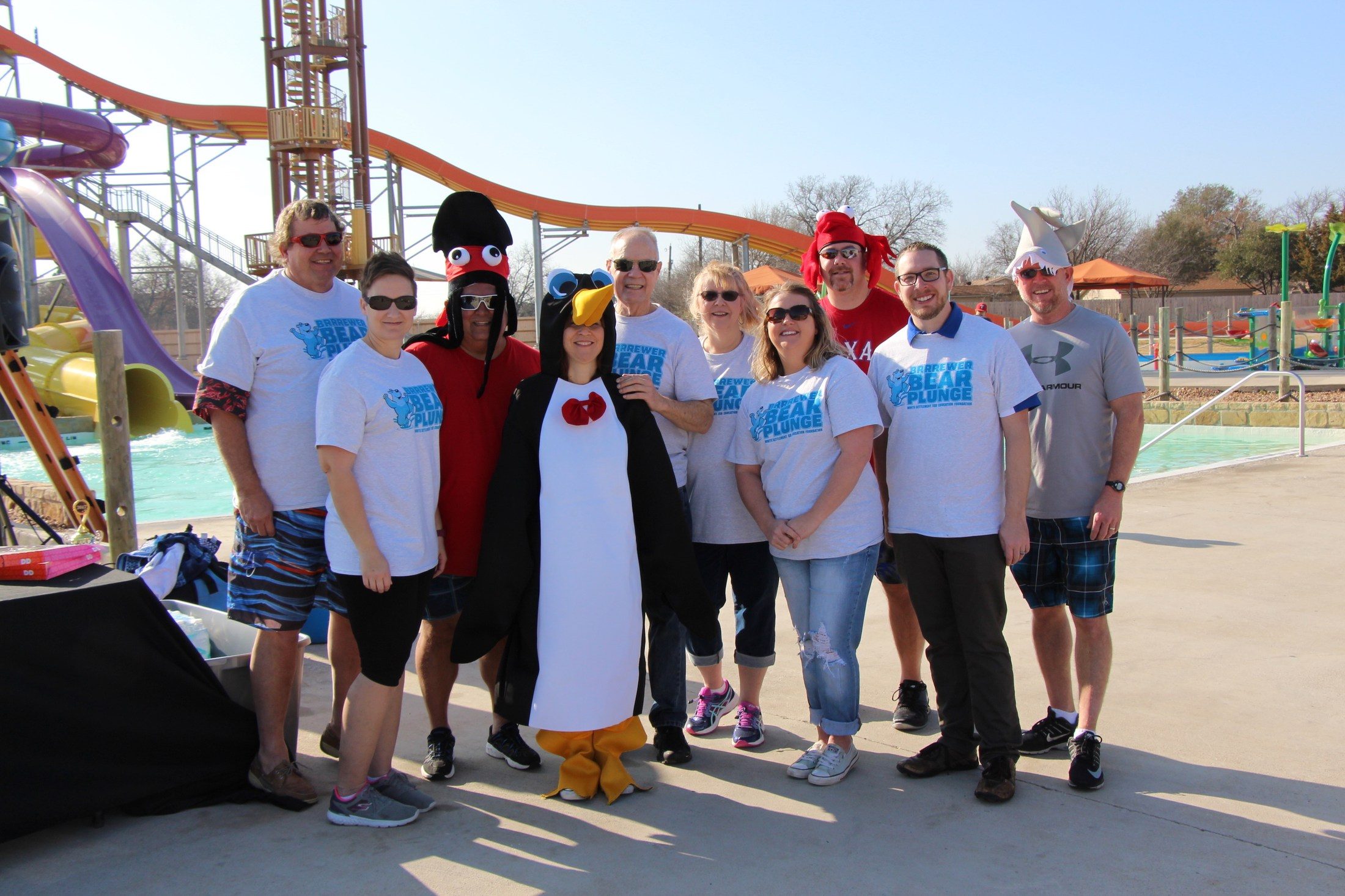 Members of the WSISD Education Foundation Board volunteer at the BRRRewer Bear Plunge Feb. 11.
