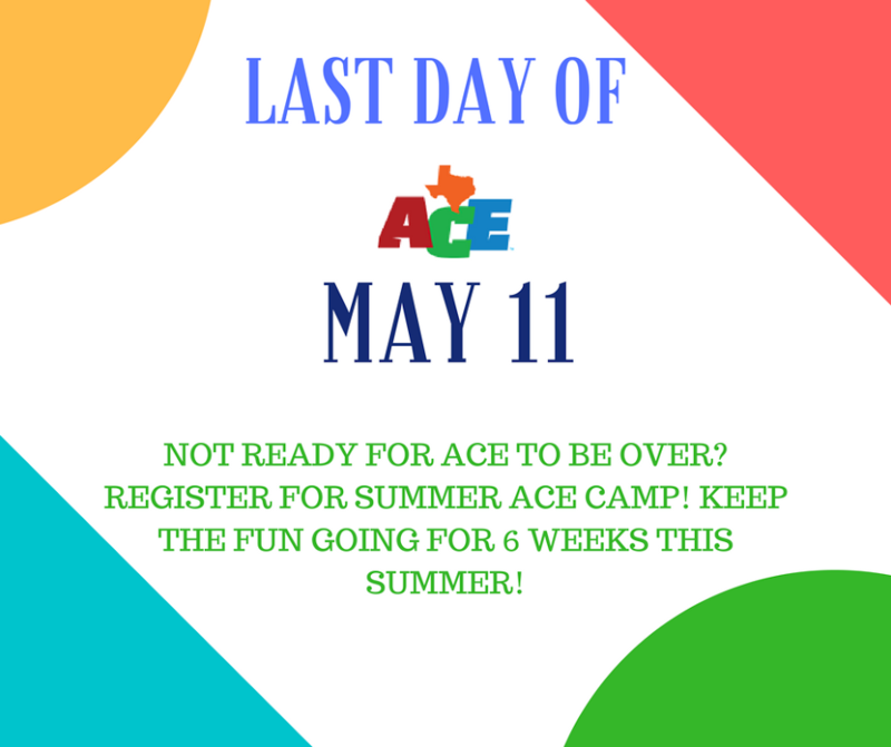 When School Year ACE Ends, Summertime ACE Begins! Thumbnail Image