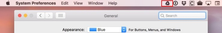 Old Google Drive Icon in Mac menu bar