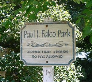 Falco Park Sign