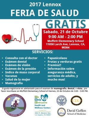 spanish lennox health fair 2017 flyer