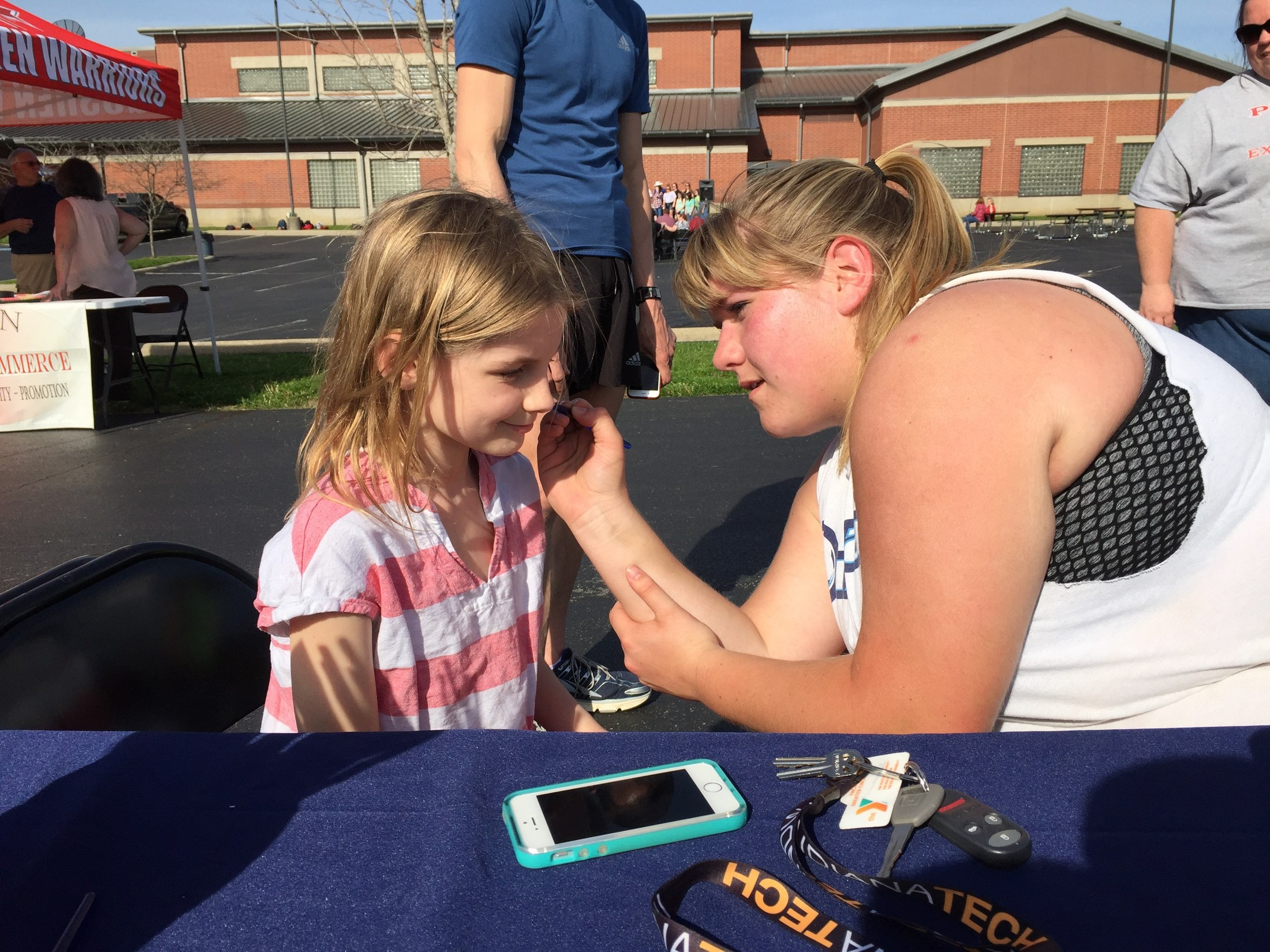 Lina face painting at Earth Day 2016