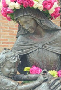 In May, we honor our mother, Mary Image