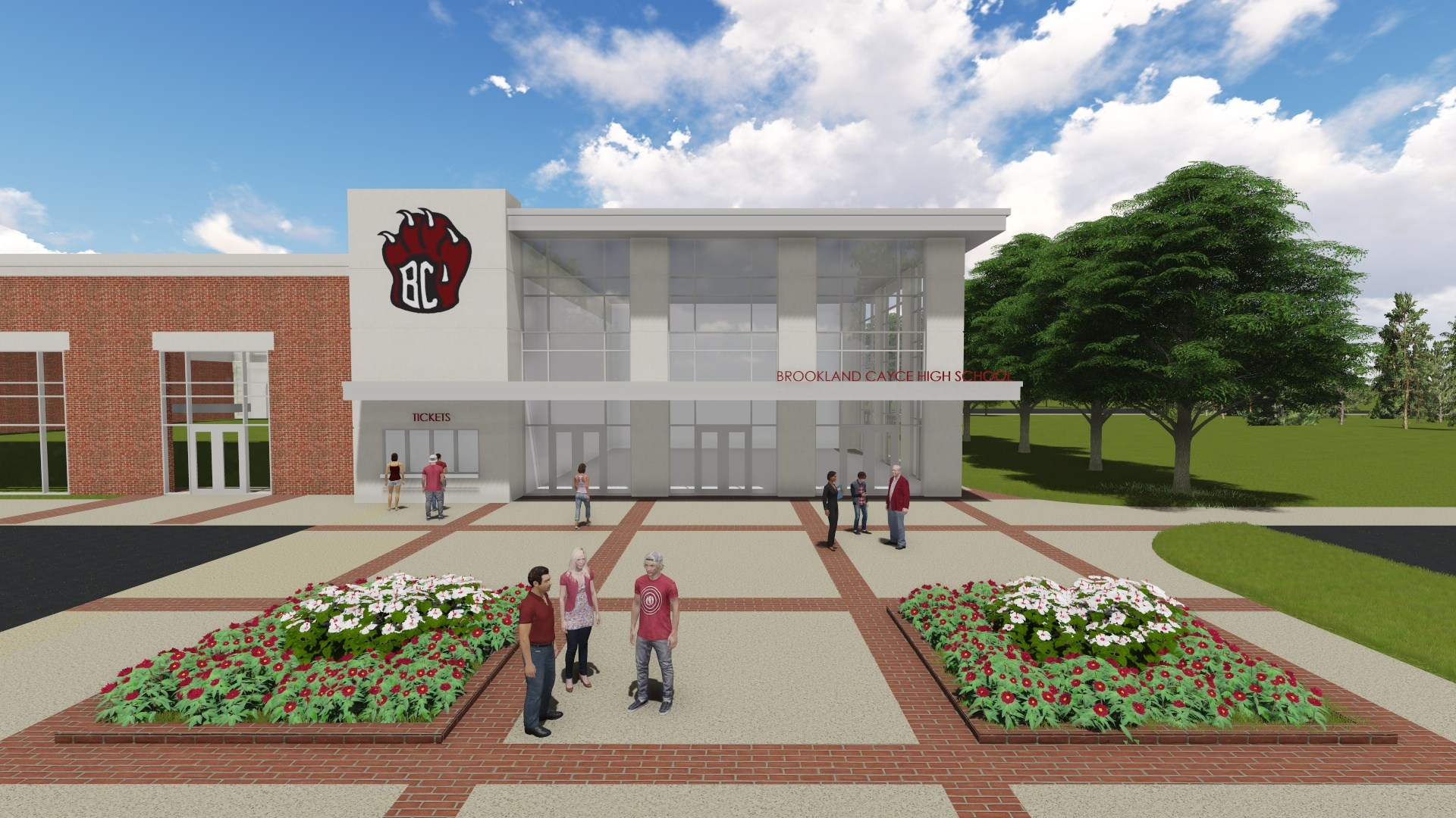 Architect's rendering of Brookland-Cayce High School's new sports arena scheduled to Open January 2019