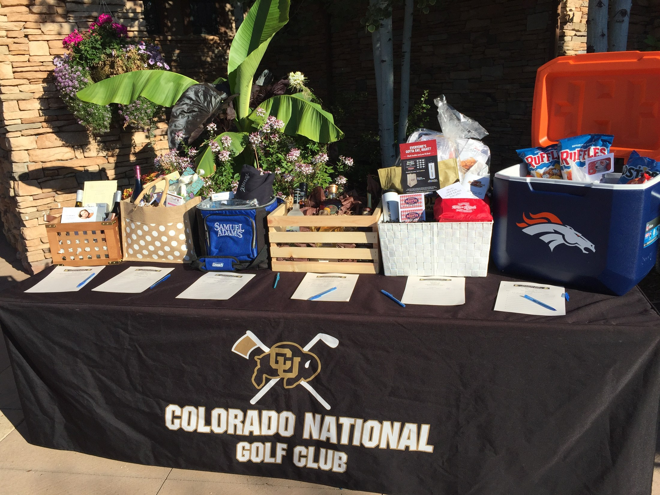 Colorado National Golf Club Registration Table
