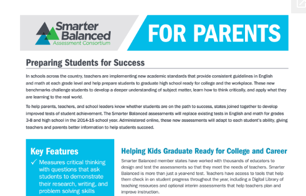SBAC for Parents