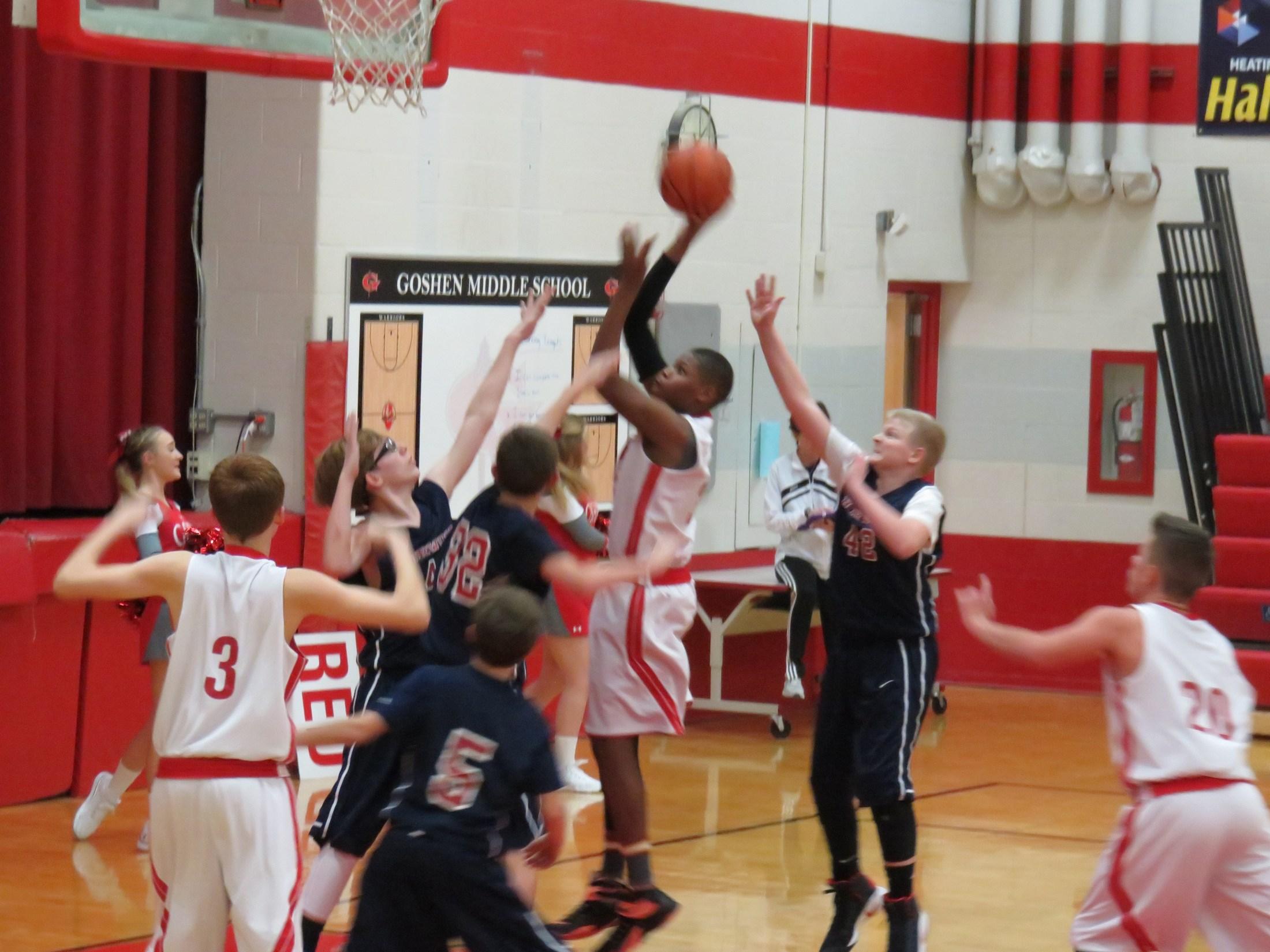 7th grade boys basketball player Jason Jackson