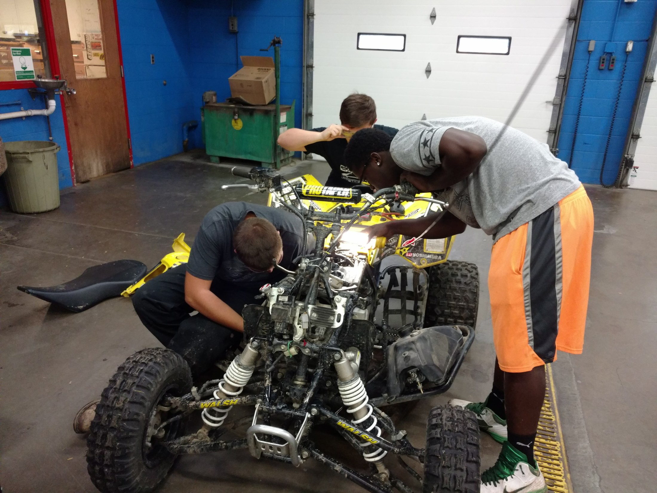 Tearing down and cleaning the fuel system on a Quad
