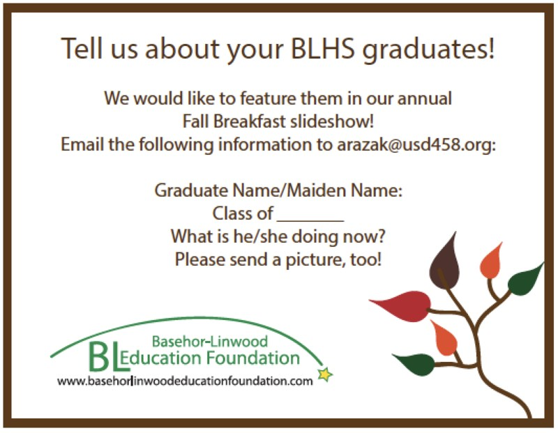 BLEF Request for Student Information!