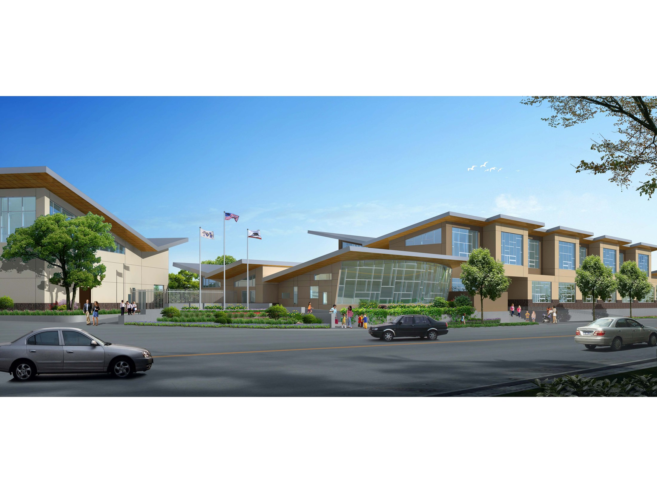 Rendering of future Marin School