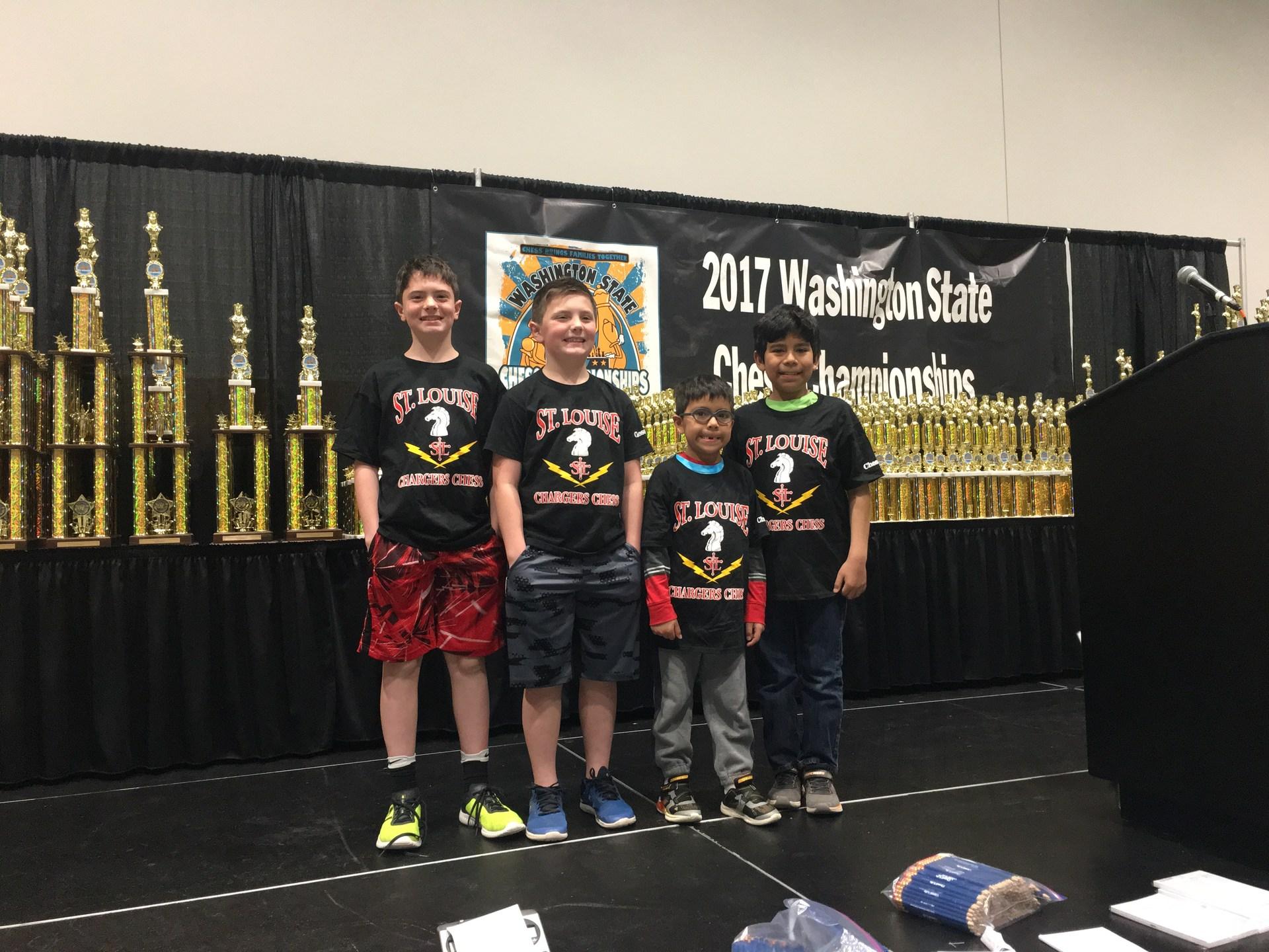 St. Louise Chess Club at 2017 WA State Chess Champtionship