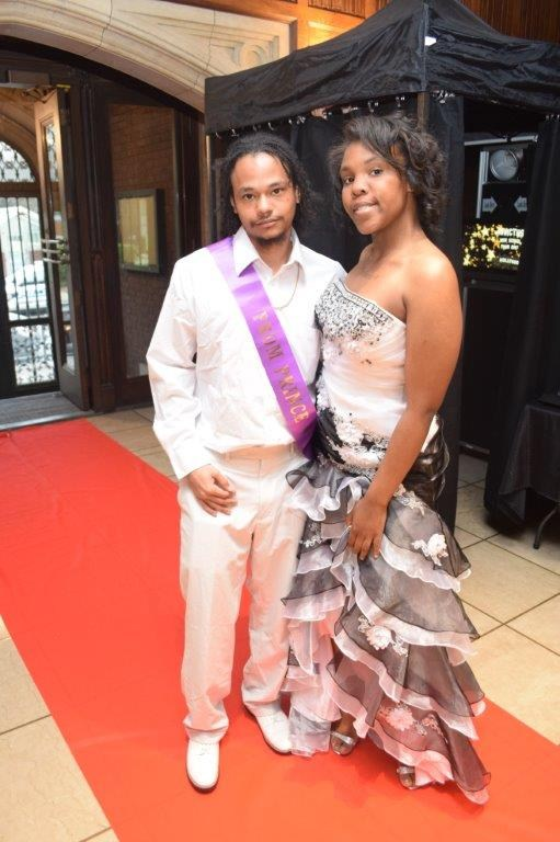 Prom king at Invictus High School
