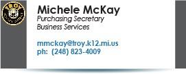 Michele McKay, mmckay@troy.k12.mi.us.