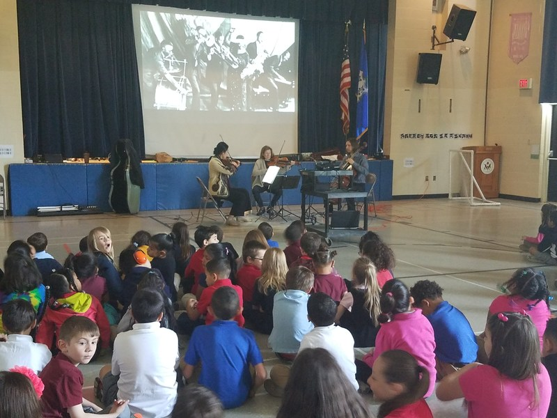 Members form Hartford's Symphony Orchestra perform Classical and Jazz music for Windham center students Thumbnail Image