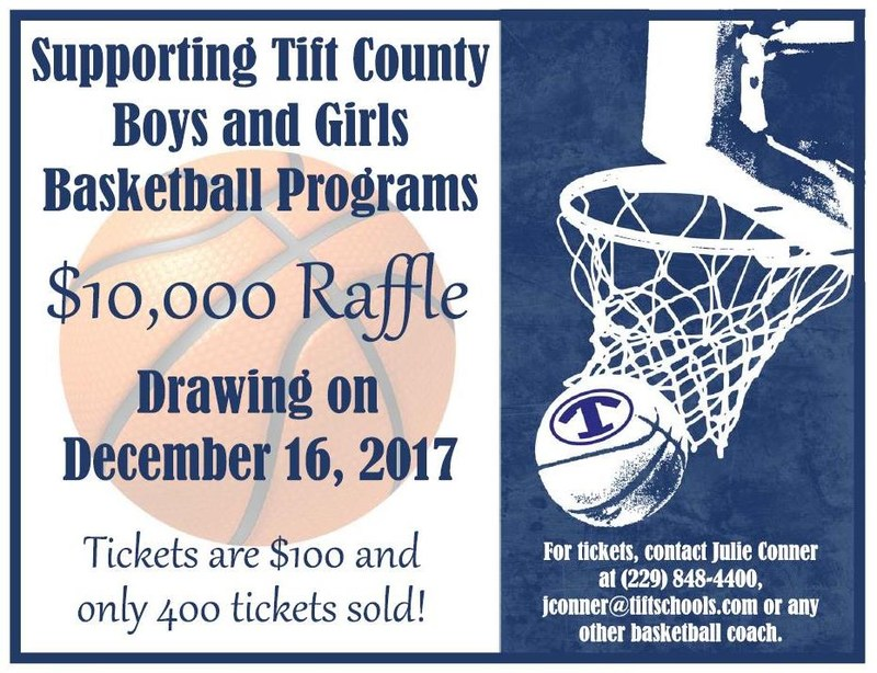 $10,000 Raffle sponsored by the TCHS Boys & Girls Basketball Programs Featured Photo