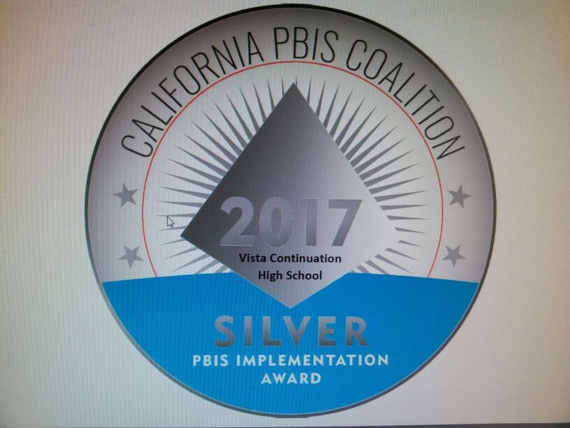 Vista High School is a PBIS Silver Award Winner! Thumbnail Image