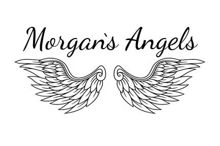 Morgan's Angels Logo with angel wings.