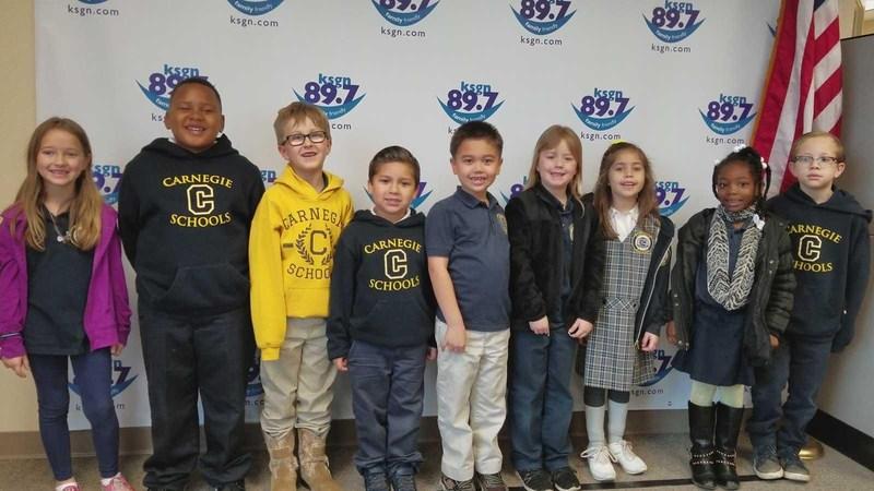 Wolverine 1st Graders do Pledge of Allegiance on KSGN! Featured Photo
