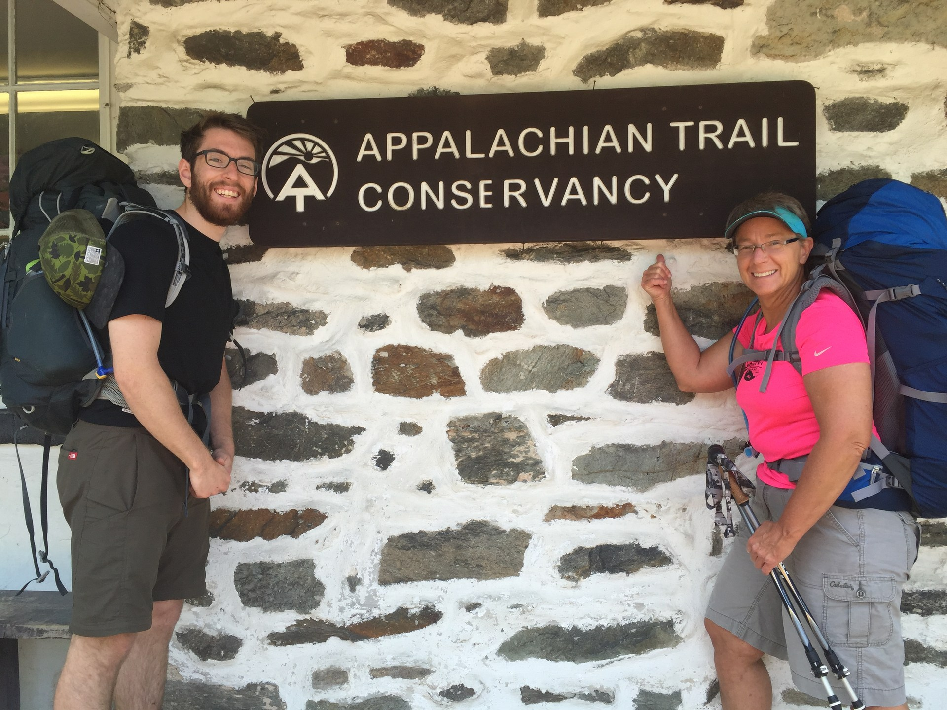 My nephew Brooks helped me start hiking the Appalachian Trail; I've walked about 10% so far.