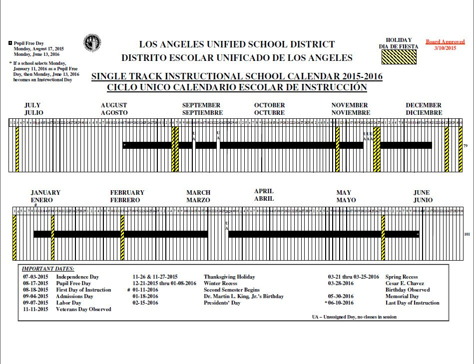 2018 Calendar Lausd – Merry Christmas And Happy New Year 2018