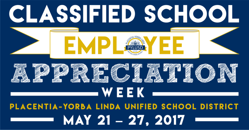Classified School Employee Appreciation Week 2017 Thumbnail Image