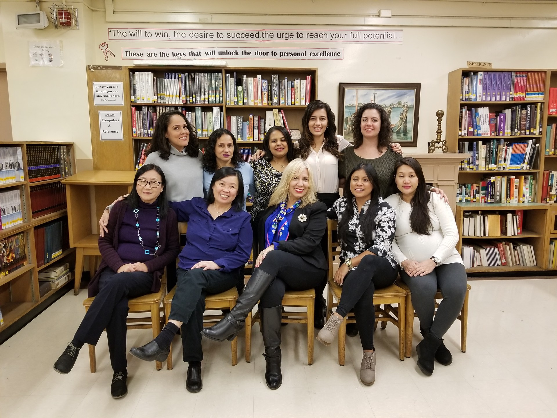 Photo of the teachers in the foreign language department