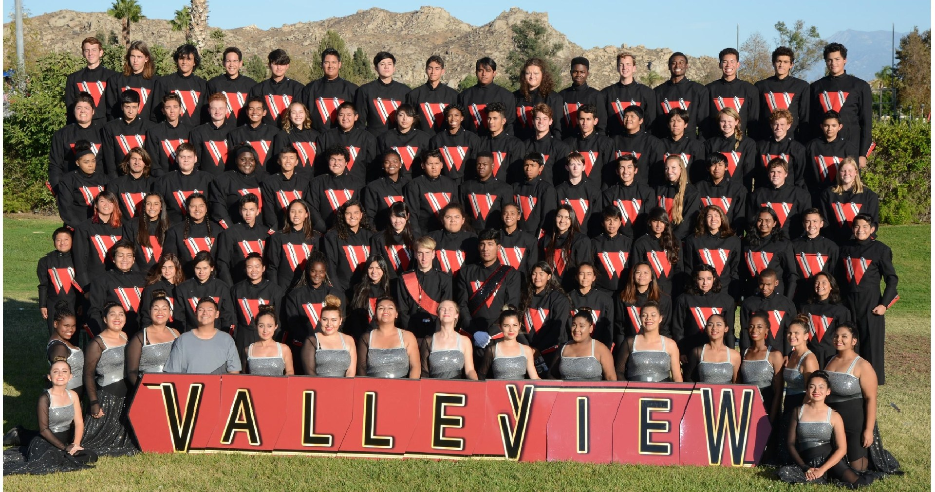 The Crimson Regiment Marching Band from Valley View High School.