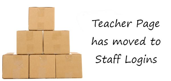 Teacher Page has moved to Staff Logins