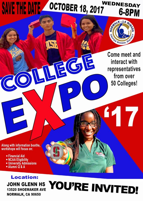 2017-18 College Expo- 10/18/17 @ 6:00 pm SAVE THE DATE & TIME! Featured Photo
