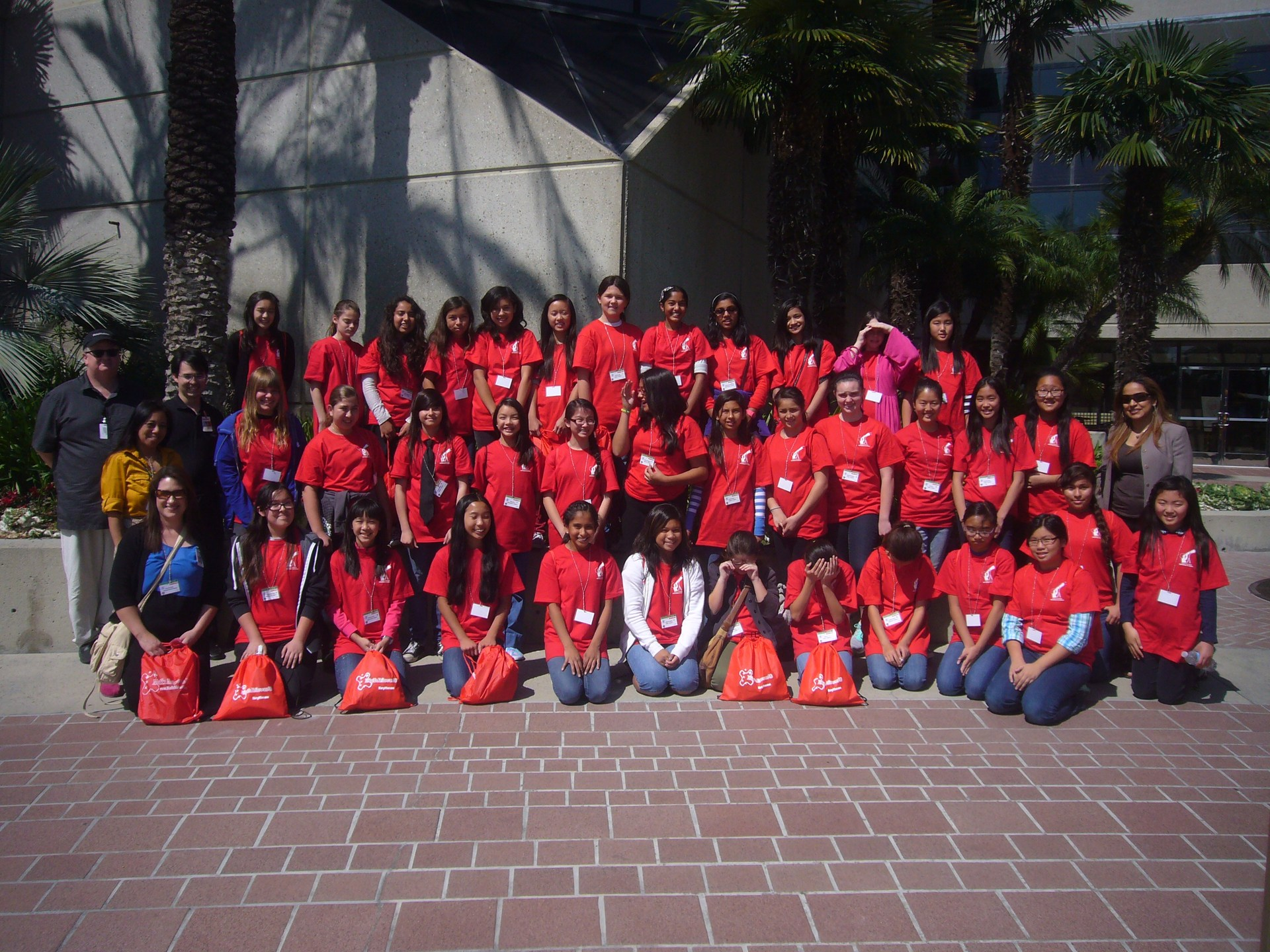 Adventures in STEM for Girls Group Photo