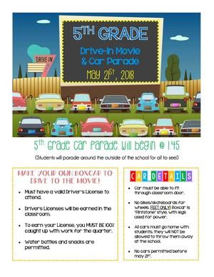 5th Grade Drive-In