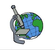 earth and microscope
