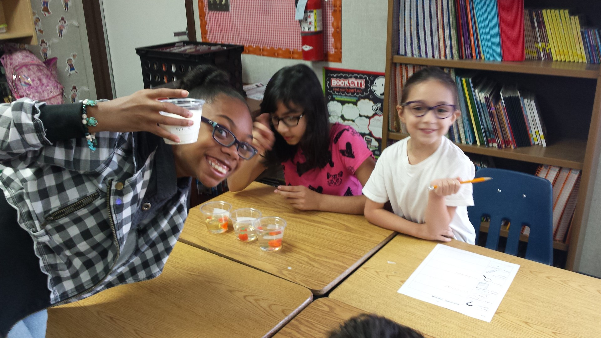 Students doing science lab