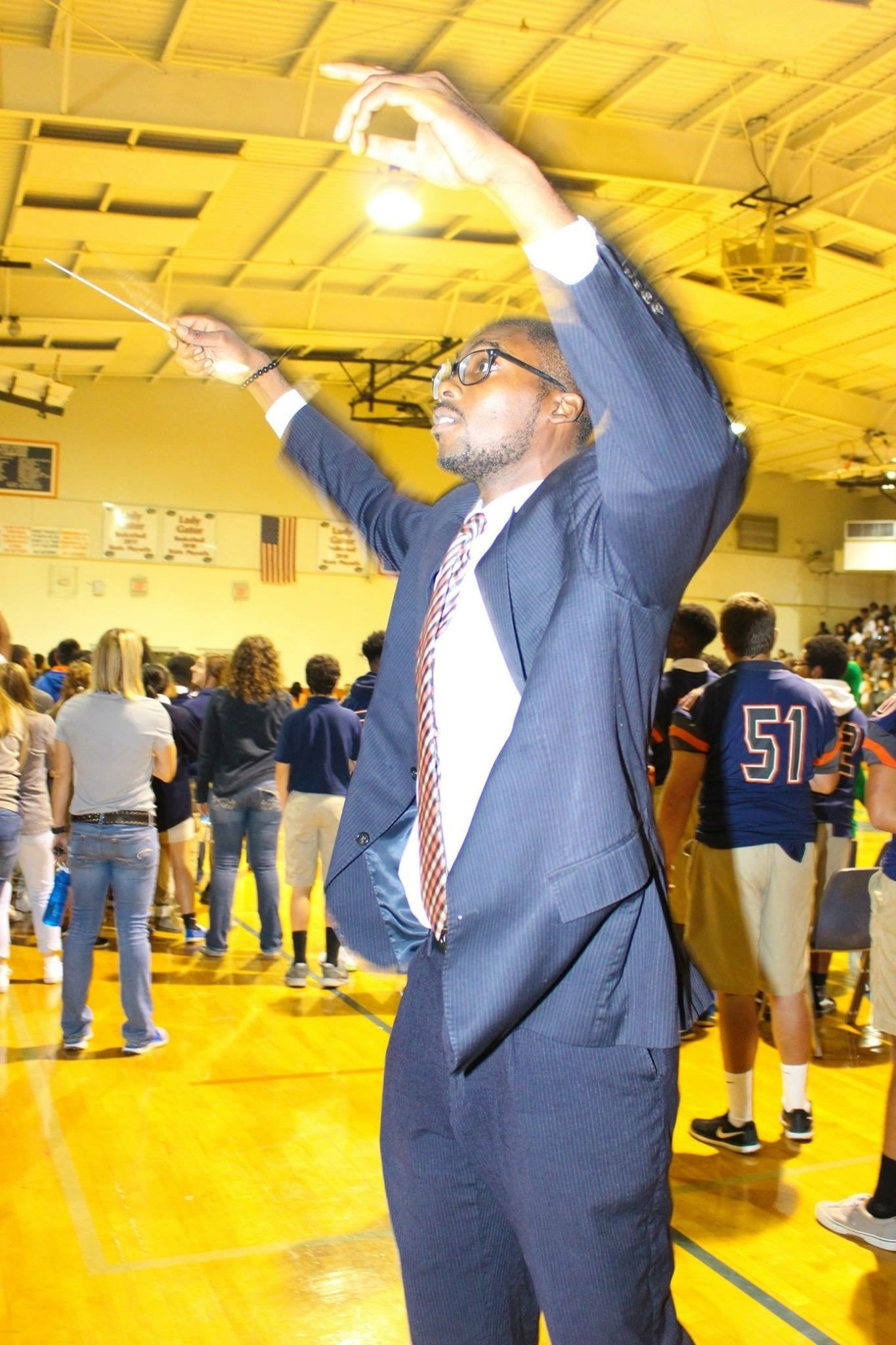 Band Director, Mr. Henry Holmes direct the band.