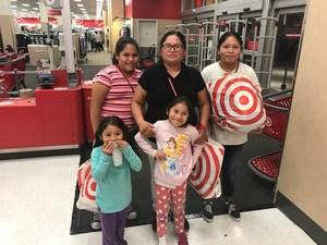 Family shopping at Target
