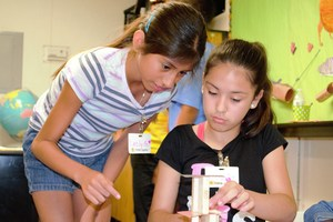 Students from Vineland Elementary were tasked with a teamwork-building exercise to test their communication and critical thinking skills. More than 1,000 kindergarteners through eighth-graders participated in a month-long summer enrichment program through THINK Together.
