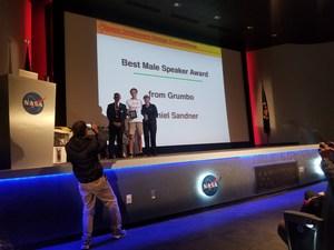 DHS Aerospace team member receiving award.