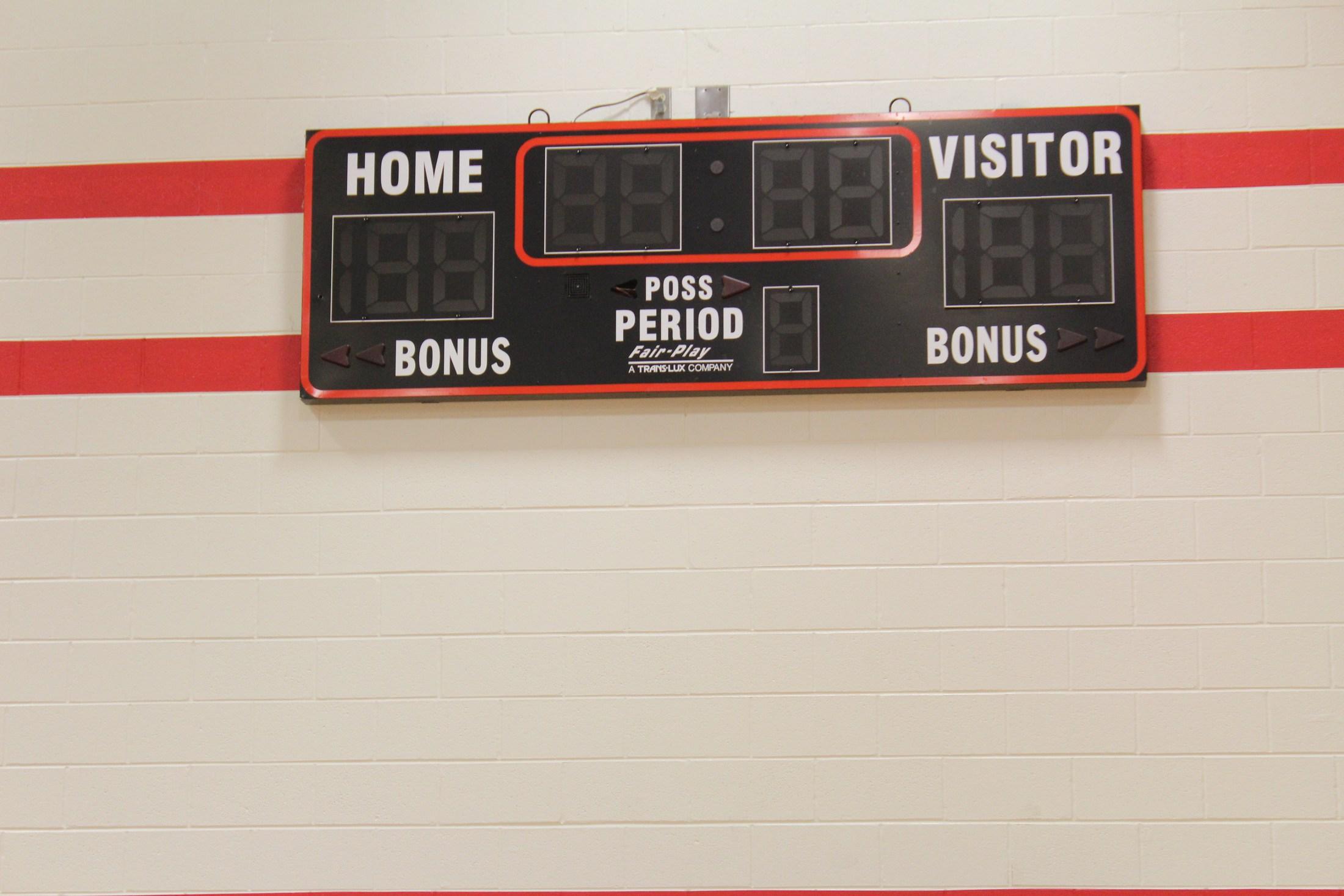 Score board @ Jr High New Gym