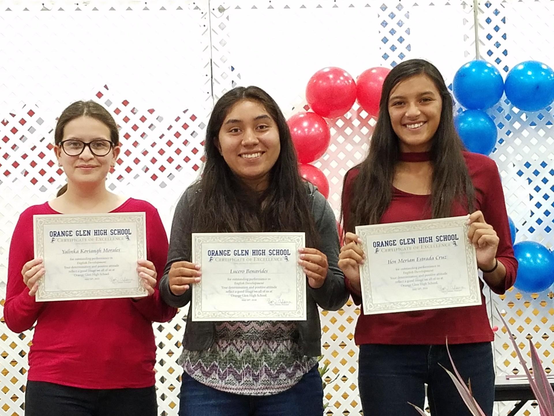 My brilliant students who won achievement awards!